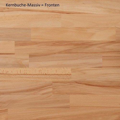 3.3.2.4.3099: schöne Wohnwand in Kernbuche teilmassiv – Wohnzimmerscherank Kernbuche teilmassiv - 5