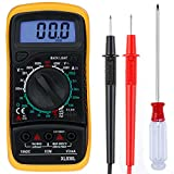 Zacro Multimètre Numérique Mini Multimètre Digital XL830L Testeur de Pile Courant Tension avec...