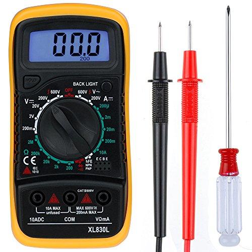 Zacro Multimètre Numérique Mini Multimètre Digital XL830L Testeur...