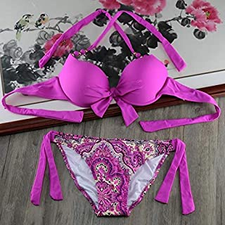BEESCLOVER Beachwear Push Up Bra Bikinis Biquini Plus Size Swimwear Women Bikini Set Bathing Suit Pads Underwire Swimsuits