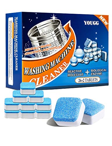 28PCS Washing Machine Cleaner Effervescent Tablets, Finally Fresh Washing Machine Cleaning, Deeply Clean The Dirt in The Washing Machine Sink, for Front-Loading and Top-Loading Washing Machines