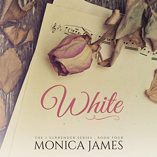 White audiobook cover art