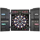 Physionics Electronic Dartboard - with LED Display, 12 Darts, 27/28 Games and Over 100 Variants, for Up to 16 Players, 3 Models to Choose from - Dart Target
