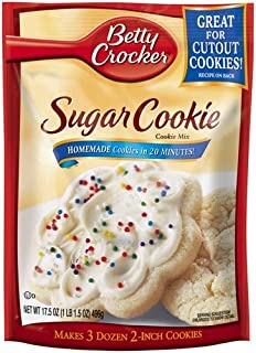 Sponsored Ad - Betty Crocker Cookie Mix, Sugar, 17.5-ounce Pouches (Pack of 4)