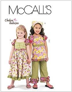 McCall's Patterns M6062 Children's/Girls' Top, Dress, Capri Pants and Kerchief, Size CDD (2-3-4-5)
