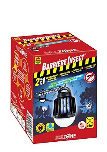 Compo Barrera lamp Nomadic [vliegenbescherming, muggenbescherming, oppervlak ca. 25 m2 energiebesparende LED, 20 uur levensduur, 13,5 x 9,7 x 9,5 cm.