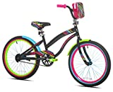 Let Kids Ride in Sweet Style with Bright,Eye Catching LittleMissMatched 20' Girls' Bike,Multi-Color,with Rear Brakes,BMX Style Handlebars,an Adjustable Seat,and a Mounted Carry Bag,for Ages 8-12
