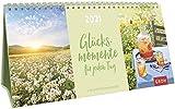Glücksmomente für jeden Tag 2021: 3-teiliger Tischkalender mit Monatskalendarium