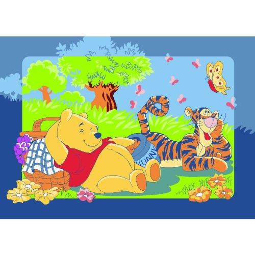 Alfombra infantil de Winnie the Pooh con Tigger, 95 x 133 cm, imprescindible para cualquier fan y no puede faltar en ninguna habitación infantil.