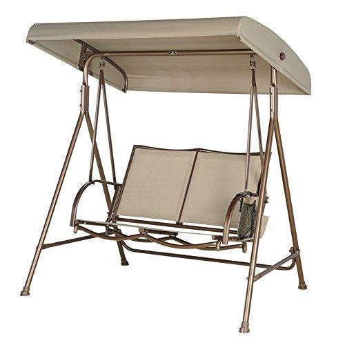 SORARA Balancelle 2-Places | Marron | Construction Extra Solide | Chaise balançoire de Jardin à Bascule Meubles de Jardin Banc