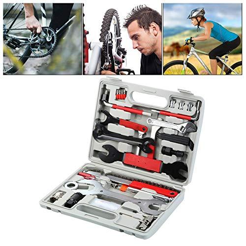 Bike Repair Tool Kits48 pcs Bicycle Tool Kit Multi-Function Tool Kit, Maintenance Tool Set with Tool Box Best Value Professional Home Bike Tool with Premium Quality