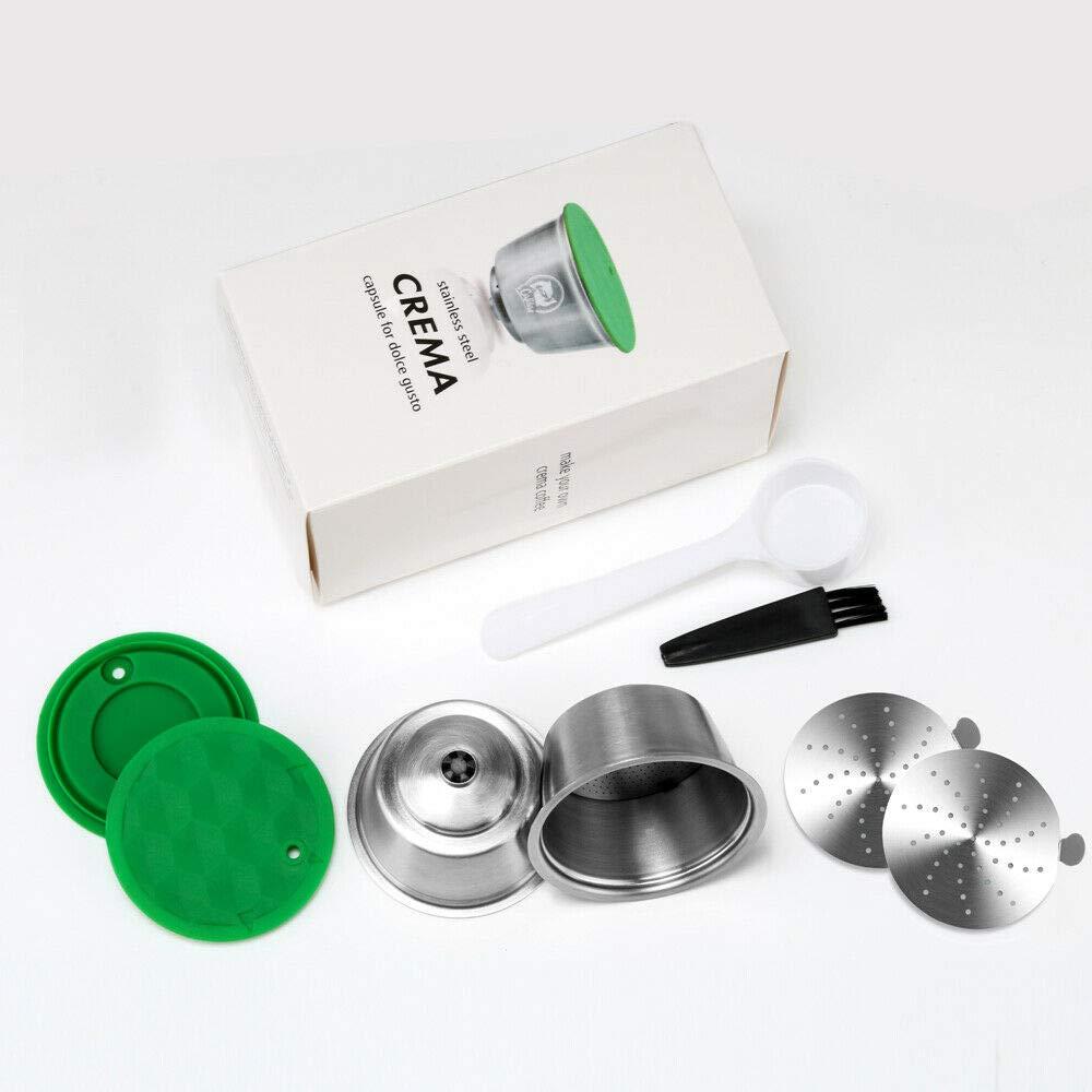 i Cafilas 2 Filtros Cápsulas Rellenar reutilizar para Dolce Gusto,capsulas Reutilizables Dolce Gusto Acero Inoxidable,2 pcs Capsule con 1 cucharón de plástico y 1 Cepillo: Amazon.es: Hogar