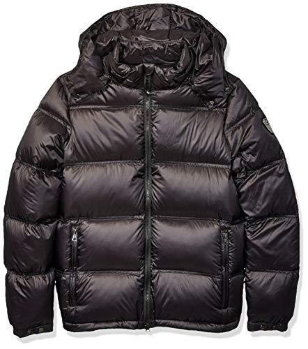 Emporio Armani Herren Mountain Goose Down Hooded Heavy Jacket Daunenmantel, schwarz, X-Groß