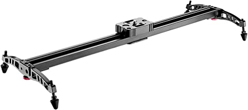 Neewer Aluminum Alloy Camera Track Slider Video Stabilizer Rail for DSLR Camera DV Video Camcorder Film Photography, Loads up to 11 pounds/5 kilograms (60cm)