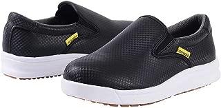 DDTX Chef Work Kitchen Nurse Shoes Unisex SRC Anti-Slip Oil and Water Resistant Lightweight Black/White 4.5-13US