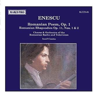 ENESCU: Romanian Poem / Romanian Rhapsodies Nos. 1 and 2 by Iosif Conta