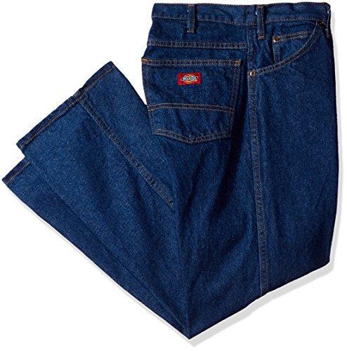 Dickies Occupational Workwear C993RNB 38x30 Denim Cotton Regular Fit Men's Industrial Jean with Straight Leg, 38