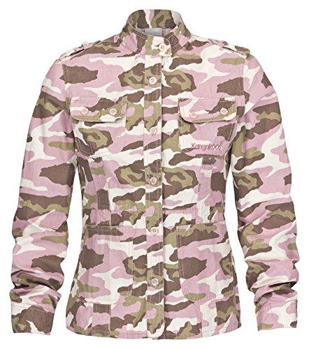KangaROOS Kinder Jacke Canvasjacke Camouflage Sommer Jacke übergangsjacke Kinderjacken mädchen (176, Camouflage)