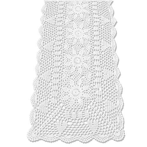 2x Weiß Blume Häkelspitze Platzdeckchen Spitzendeckchen Tischdecken Party