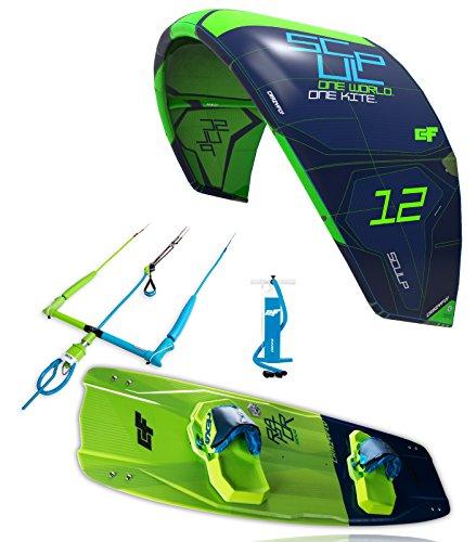 CrazyFly Kiteboarding 2018Sculp 10m Kite & Raptor 135x 43Tarjeta Package, Green, 10