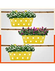 Patio by Bathla - ARA Hanging Metal Pot Holders for Balcony / Garden | Corrosion Resistant with Detachable Double Hooks