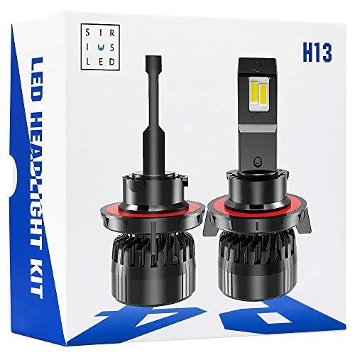 SIRIUSLED P4 H13 Performance Focus Ultra Bright 12000 Lumen LED Headlight Bulb Conversion Kit Set External Driver Pure White 6500K 9008