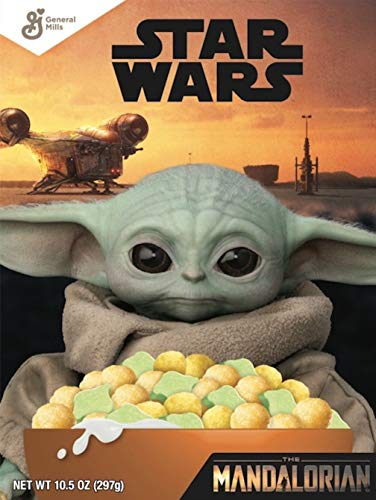 General Mills Star Wars Breakfast Cereal The Mandalorian Fruity Cereal with Marshmallows Baby Yoda Family Size 186 Oz