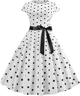 d92416b1afc8 K-youth Años 50 Hepburn Vintage Swing Vestidos De Fiesta Mujer Elegantes  Vestido para Mujer