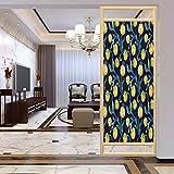 PikaQ - Adhesivo decorativo anti UV para ventana, alcachofas, acuarela y esquema de color abstracto, película de tintado de ventana para el hogar, control de calor, 17,7 x 35,4 pulgadas