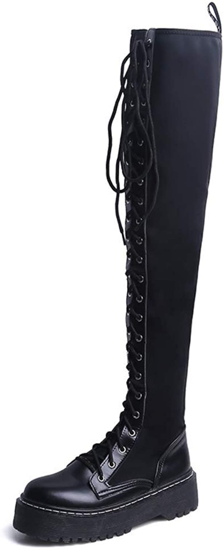 YantongGAO High Heels Ms Over The Knie Stiefel Stiefel Stiefel Lange Stiefel Herbst Und Winter Neue Flachboden Mode Wilde Dünne Lycra Elastic Damenstiefel  ef1b32