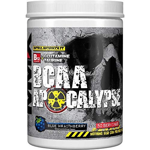 MuscleMaxx BCAA Apocalypse Intra-Workout B12 Glutamine Taurine Blue Wraithberry 17 63 oz 500 g