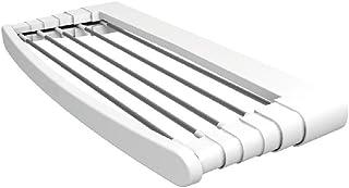 Vileda Genius 70 Tendedero de pared de aluminio y resina, 5 metros de espacio de tendido, 2 pares de soporte de pared incluidos, dimensiones abierto 70 x 38 x 8 cm, color blanco