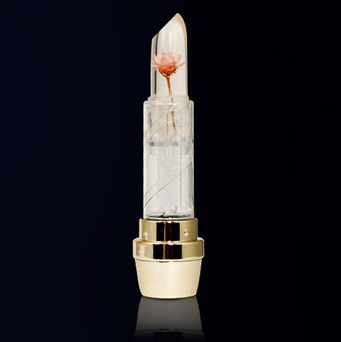 ミサイルバンジージャンプナサニエル区リップスティック 温度変化色 花 透明口紅 水晶 ゼリー オシャレ リップクリーム カワイイ とろけるような付け心地美人発色上質ルージュhuajuanC