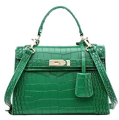 New Crocodile PU Grain Cuir platine véritable Cuir véritable Sacs Femme Sac à main Mode Patchwork Designer Marque haute qualité femmes Bureau Sacs à bandoulière