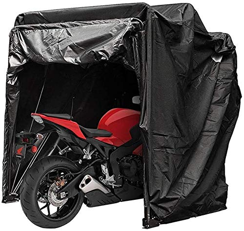 N\A ZT Motorcycle Cover Shelter Storage Waterproof Motorbike Storage Tent Oxford 600D Garage Shed with Carry Bag (Color : L)