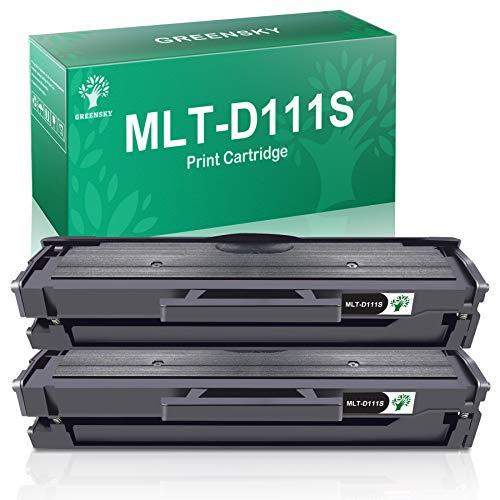 GREENSKY MLT-D111S Cartouche Toner Compatible pour Samsung MLT-D111S D111 pour Samsung Xpress M2070 M2070W M2026 M2026W M2020 M2020W M2022 M2022W M2070FW M2078W (2 Paquet)