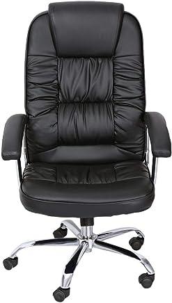 AAM Office Chair,Black/brown