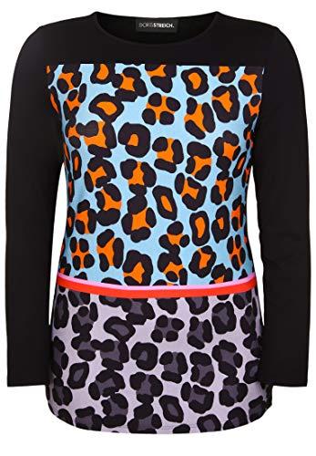 Doris Streich Damen Shirt mit Animal-Print mit Rundhalsausschnitt