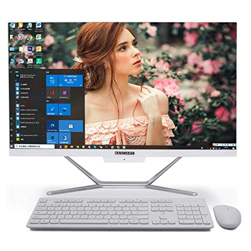 All In One Desktop Computer i7, Core i7 10510U di decima generazione, 32G RAM 512G SSD 1TB HDD, uscita HDMI/VGA 4K, WiFi, BT, Windows 10 Pro, tastiera e mouse wireless