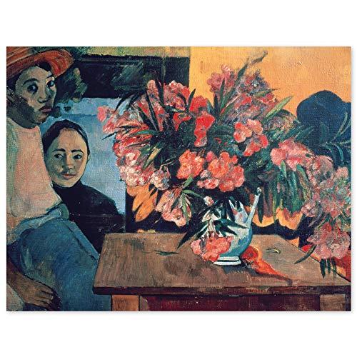 JUNIWORDS Poster, Paul Gauguin, Te tiare farani, Großer Blumenstrauß mit tahitischen Kindern, 105 x 80 cm