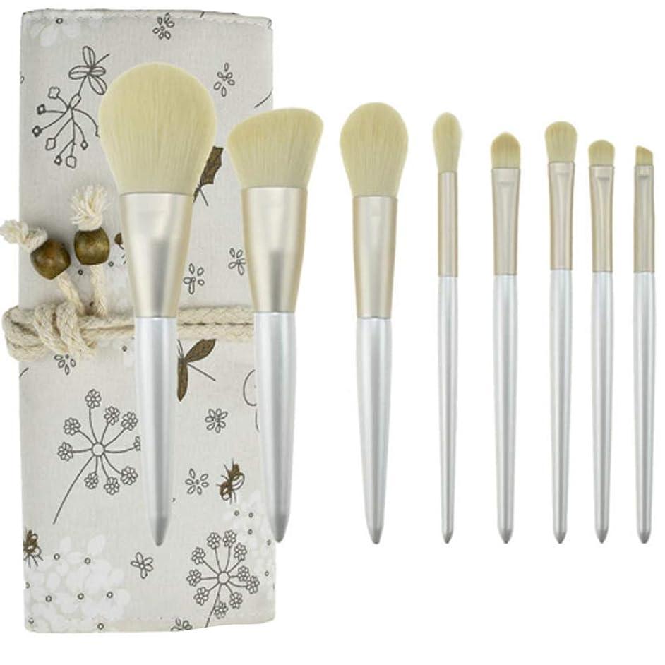 BIXINYAAN 8Pcs Makeup Brush Set Professional Foundation Blending Powder Brush Tool