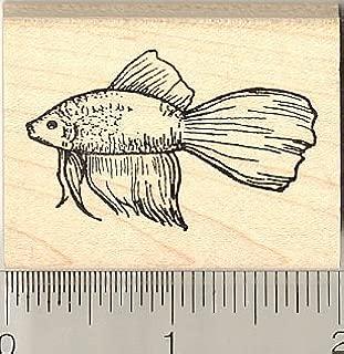 Betta Fish Ruber Stamp