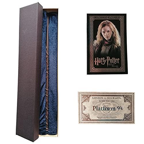 GPRODOTTI Hermione Granger Baguette magique de collection avec carte et carte pour le train 9 3/4 Harry Potter