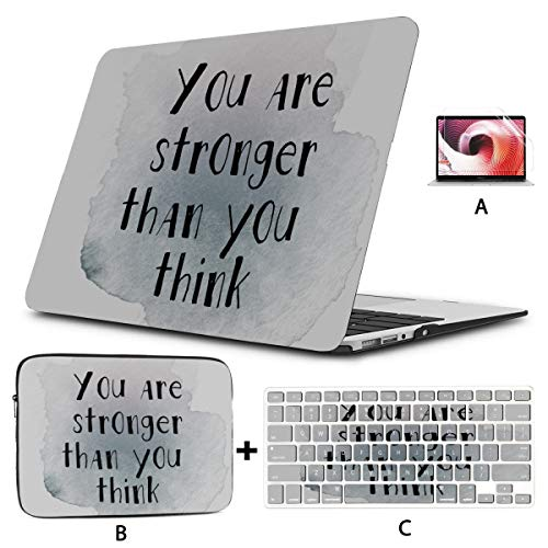 Macbook Hard Case Book Inspirational Quote 13 Macbook Pro Case Hard Shell Mac Air 11'/13' Pro 13'/15'/16' With Notebook Sleeve Bag For Macbook 2008-2020 Version