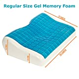 Product Stop, Inc Cooling Gel Memory Foam Pillow - eliminates Neck and...