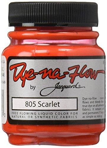 Jacquard Products Scarlet -Jacquard Dye-Na-Flow, Acrylic, Multicolour by Jacquard