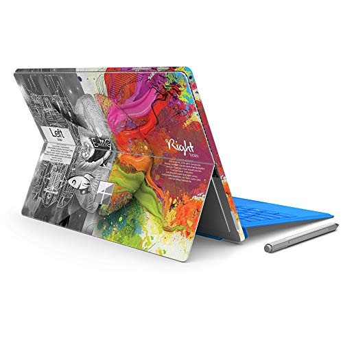 """MasiBloom Protective Decal Sticker Laptop Cover Skin for 12.3"""" 12.3 Inch Microsoft Surface Pro 6 (2018 Released) & New Surface Pro 2017 & Pro 4 (Brain- Mathematics)"""
