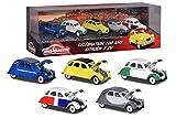 Majorette - Vintage Citroën 2CV Giftpack - Voitures Miniatures en Métal - Coffret 5 Véhicules - 212052013SMO