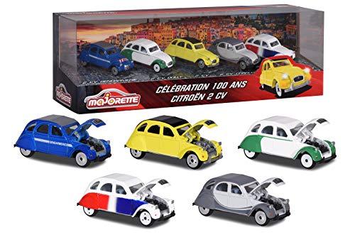 Majorette 212052013SMO Miniatur-Fahrzeug, Vintage, Citroën 2 CV, 5-teilig, Maßstab 1:64