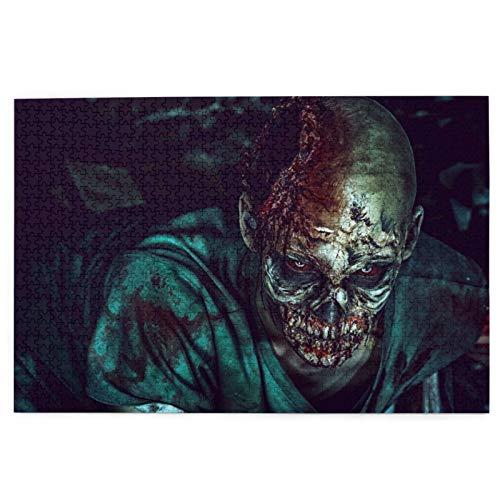 Rompecabezas de 1000 Piezas,Rompecabezas de imágenes,Horrible Hombre Zombie Aterrador En Las Ruinas De Una Casa,Juguetes Puzzle for Adultos niños Interesante Juego Juguete Decoración para El Hogar